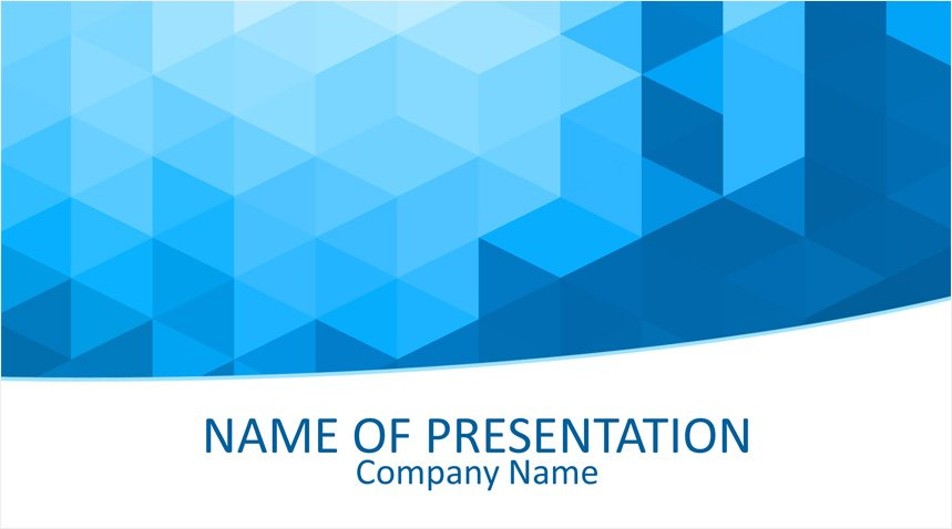 Blue Geometric Powerpoint Template Templateswise Com
