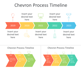 Chevron Timeline PowerPoint Template