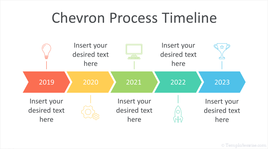chevron timeline powerpoint template templateswise com