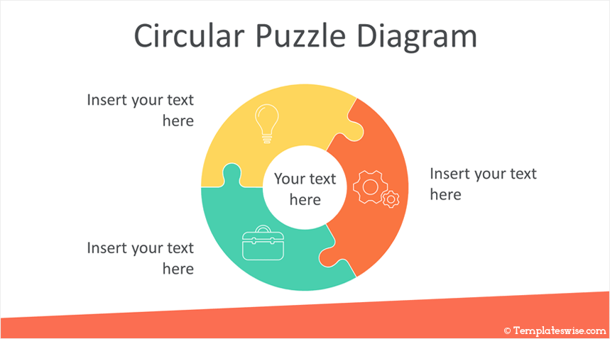 Circular Puzzle Diagram Powerpoint Template Templateswise