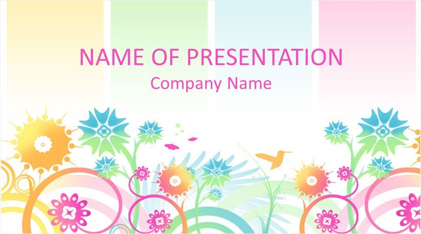 colorful floral powerpoint background