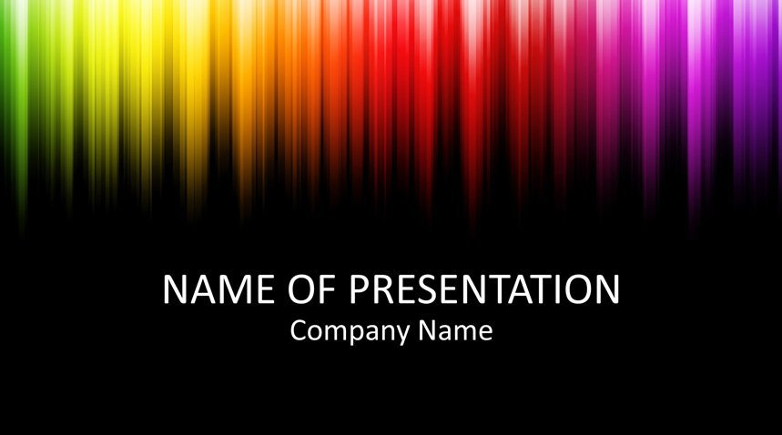 colorful powerpoint template templateswise com