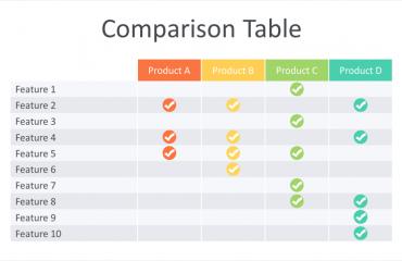 Comparison Table PowerPoint Template