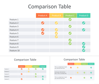 Comparison Table PowerPoint Template