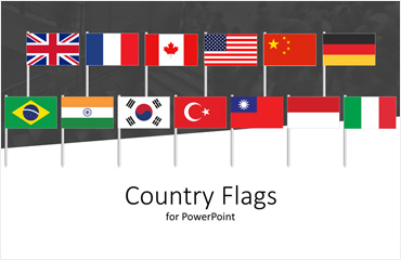 Country Flags Icons for PowerPoint