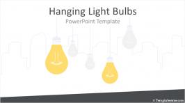 Hanging Light Bulbs PowerPoint Template