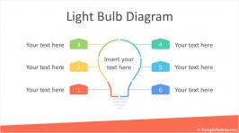 Light Bulb Diagram for PowerPoint