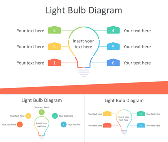 Light Bulb Diagram for PowerPoint