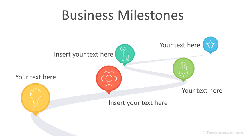 milestones powerpoint template