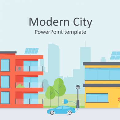 Modern City PowerPoint Template