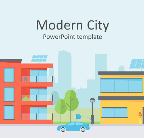 Modern City PowerPoint Template