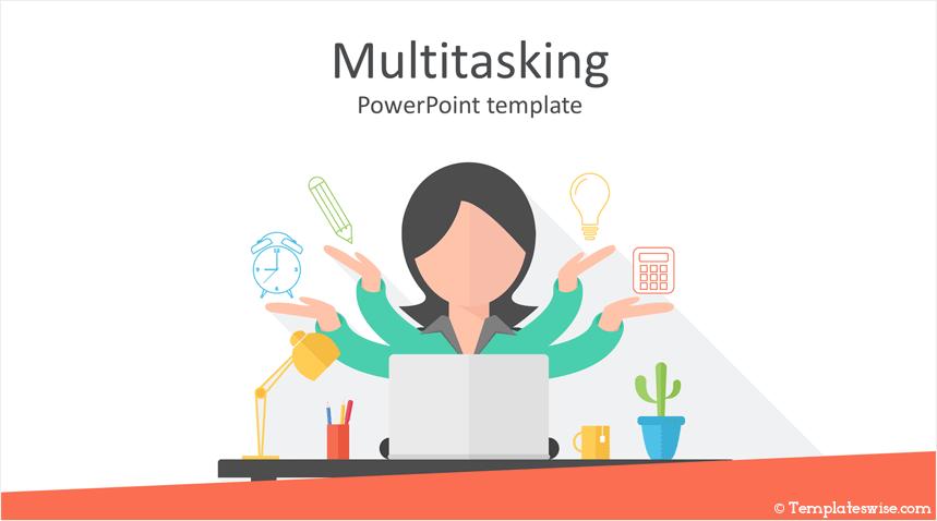 Multitasking Powerpoint Template Templateswise