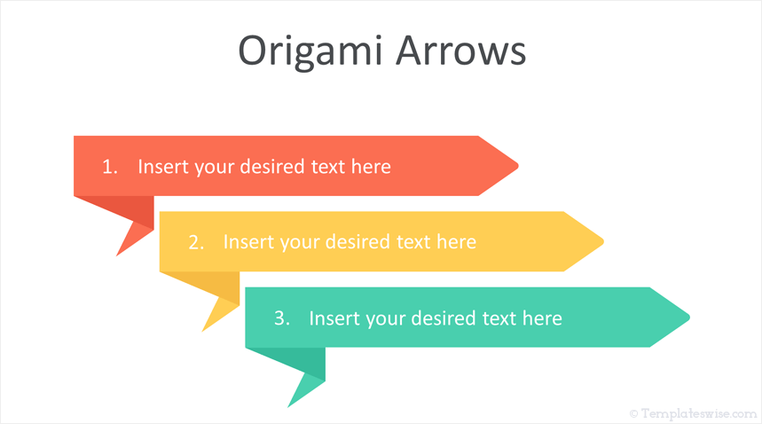 Origami Arrows Powerpoint Template Templateswise