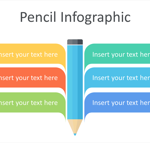 Pencil Infographic PowerPoint Template