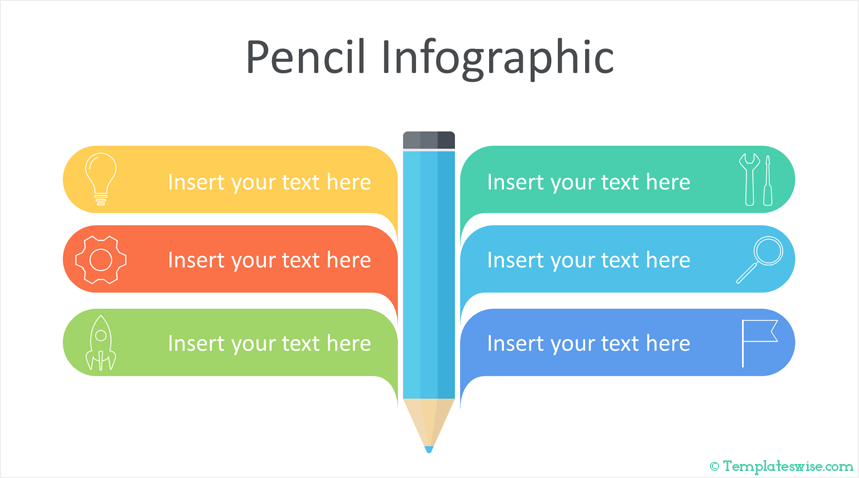 Pencil Infographic Powerpoint Template Templateswise Com