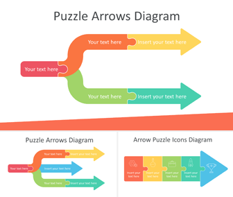 Puzzle Arrows Diagram for PowerPoint