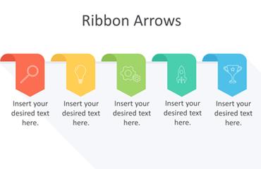 Ribbon Arrows PowerPoint Template