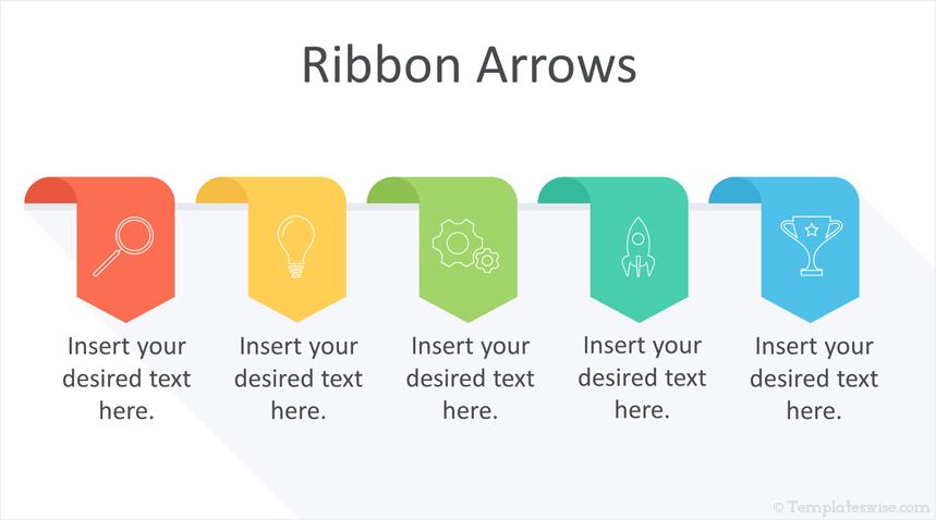 Ribbon Arrows Powerpoint Template Templateswise Com