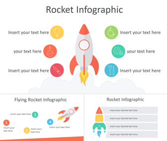Rocket Infographics PowerPoint Template