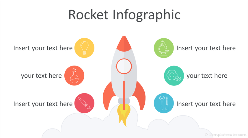 rocket infographics powerpoint template templateswise com