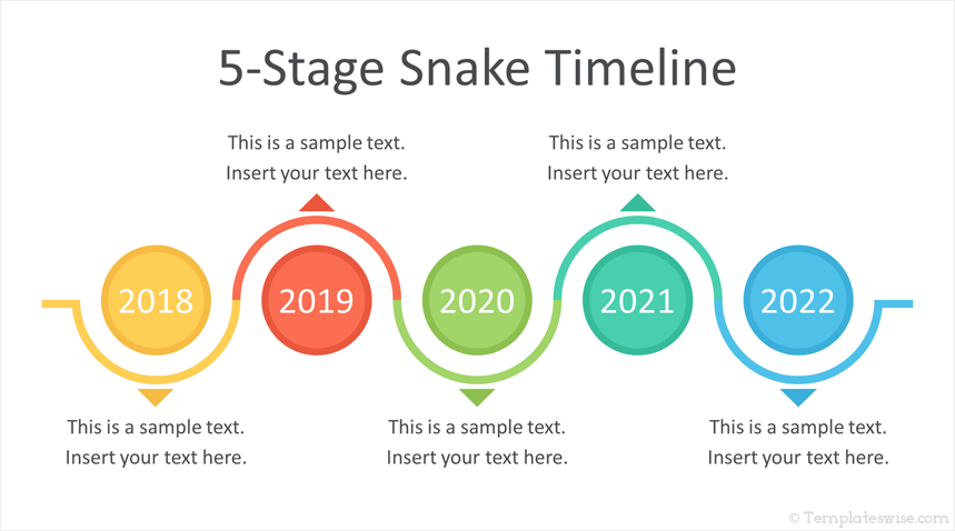 snake timeline powerpoint template templateswise com