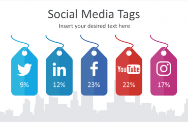 Social Media Tags Infographic for PowerPoint