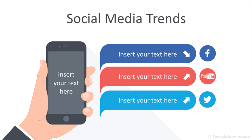 social media trends infographics for powerpoint templateswise com