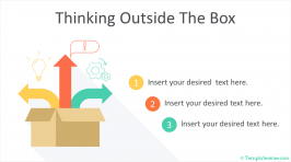 Thinking Outside the Box Infographic for PowerPoint