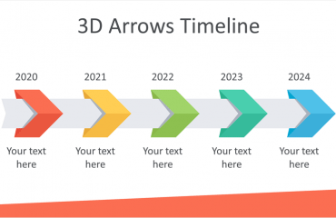 3D Arrows Timeline Template for PowerPoint