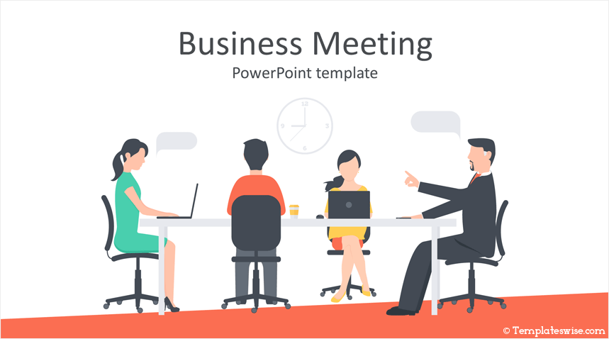 business meeting powerpoint template templateswise com