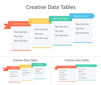 Creative Data Tables for PowerPoint
