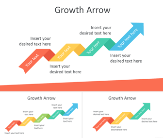 Growth Arrow PowerPoint Template