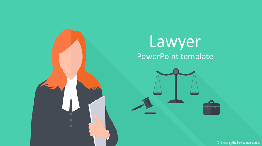 Lawyer Powerpoint Template Templateswise Com