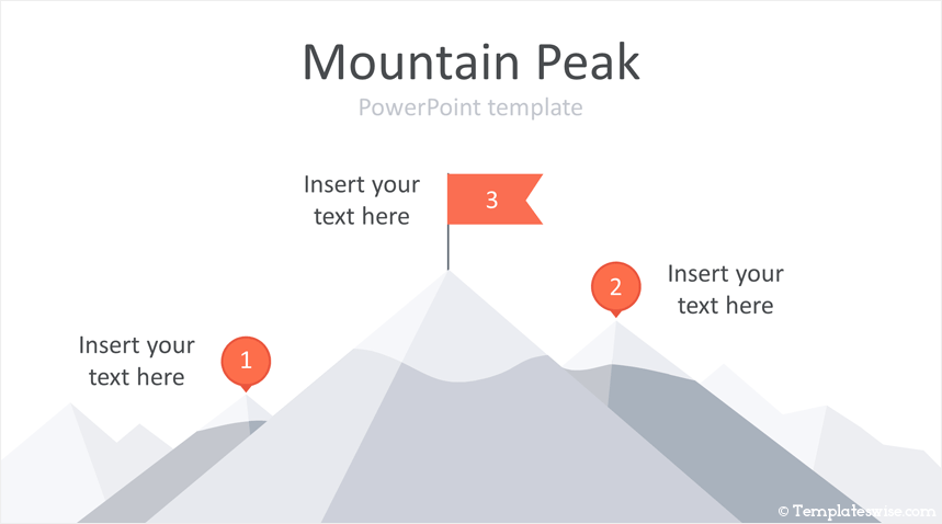 mountain peak powerpoint template templateswise com