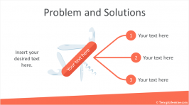 Problem and Solutions PowerPoint Template