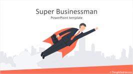Super Businessman PowerPoint Template