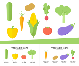 Vegetable Icons for PowerPoint