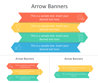 Arrow Banners PowerPoint Template