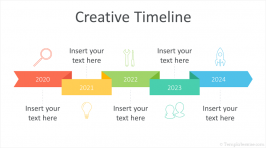 Creative Timeline PowerPoint Template