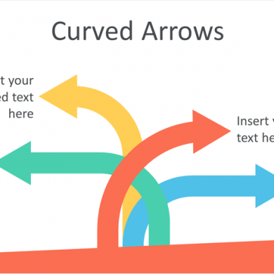Curved Arrows PowerPoint Template