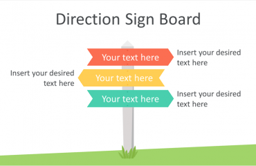 Direction Sign Board PowerPoint Template