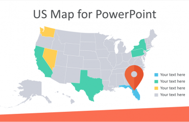 Editable US Map for PowerPoint