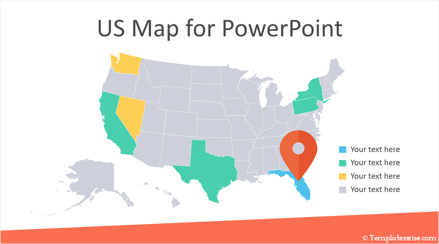 editable us map for powerpoint templateswise com