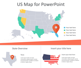 Editable Us Map For Powerpoint Templateswisecom - Us-map-powerpoint-template