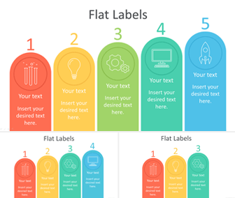 Flat Label Infographics for PowerPoint