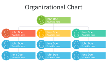 Organizational Chart Template for PowerPoint