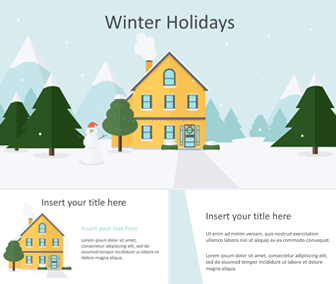 Winter Holidays Powerpoint Template Templateswise Com