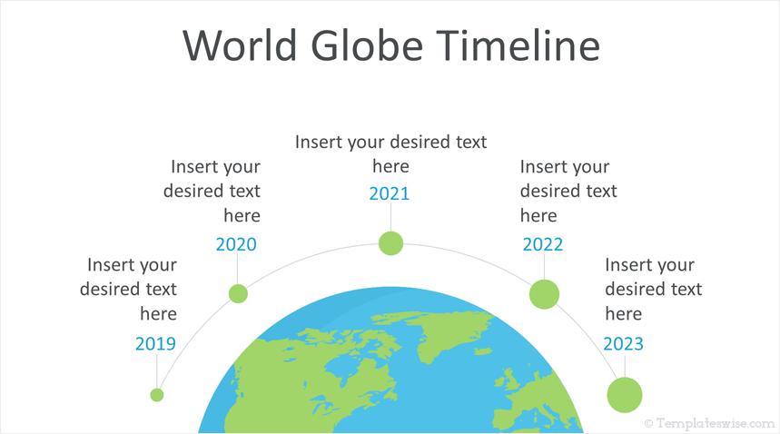 World Globe Timeline Point Template
