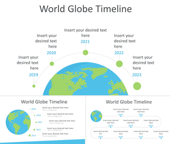 World Globe Timeline PowerPoint Template