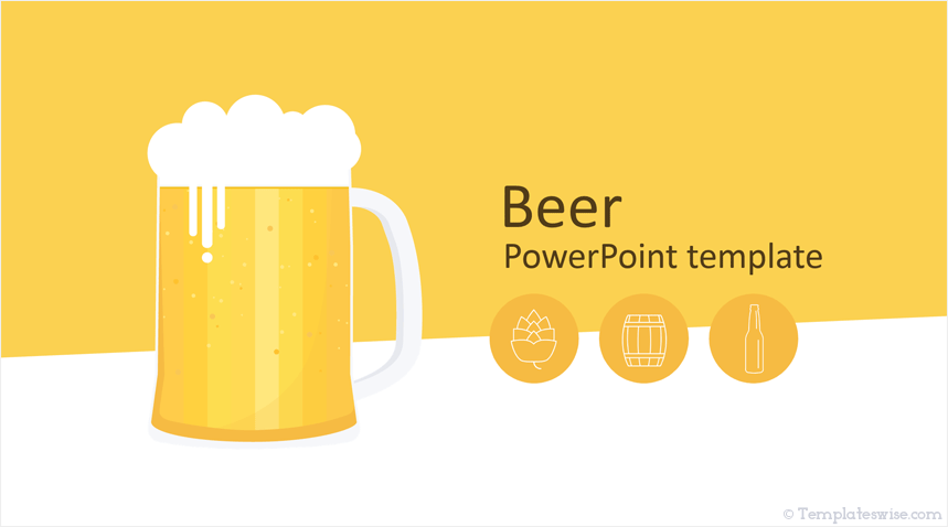 Free Beer Powerpoint Template Templateswise Com